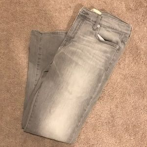 Distressed Gap Girlfriend Jeans